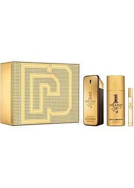 Paco Rabanne 1 MILLION Estuche 100 ml Vaporizador + Desodorante Spray 150 ml + 10 ml