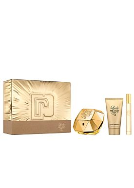 Paco Rabanne LADY MILLION Estuche EDP vaporizador 50ml + loción 75ml +  vapo10ml