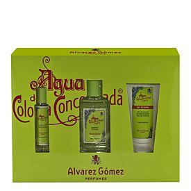Álvarez Gómez Agua de Colonia Concentrada Eau Fraîche Estuche 150 ml Vapo + 30 ml Vapo + Gel 150 ml