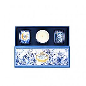 Castelbel Portus Cale Gold & Blue Set de Velas  3 x 70 g