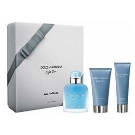 Dolce & Gabbana Light Blue Eau Intense Pour Homme Estuche 100ml Vaporizador + Gel 50 ml + After Bálsamo 75 ml