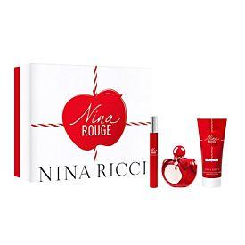 Nina Ricci NINA ROUGE EDT 80ml Vaporizador + Lotion +Roll on 10ml